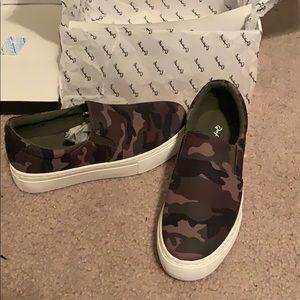 Camo slipon sneakers